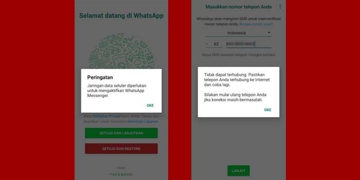 cara mengatasi whatsapp yang tidak bisa masuk