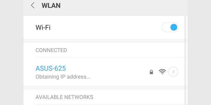 Penyebab WiFi Obtaining IP Address Terus