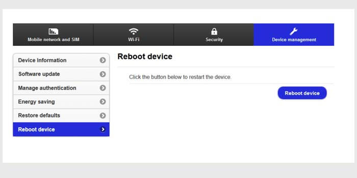 Reset WiFi (Router)