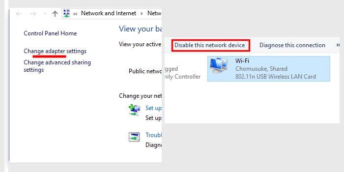 mengatasi no internet access