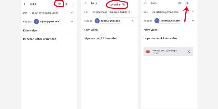 Cara Mengirim Video Lewat Email Gmail