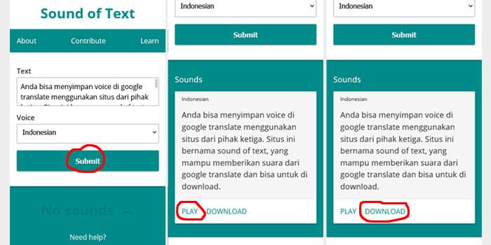 Cara Menyimpan Suara Google Translate