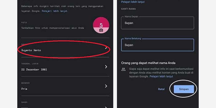 cara mengganti nama di google meet di web