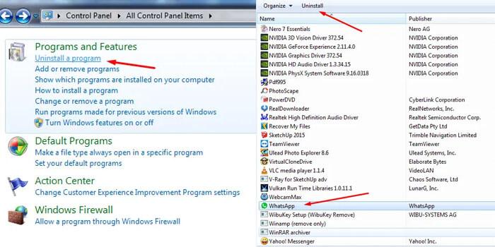 cara menghapus aplikasi di laptop windows 7