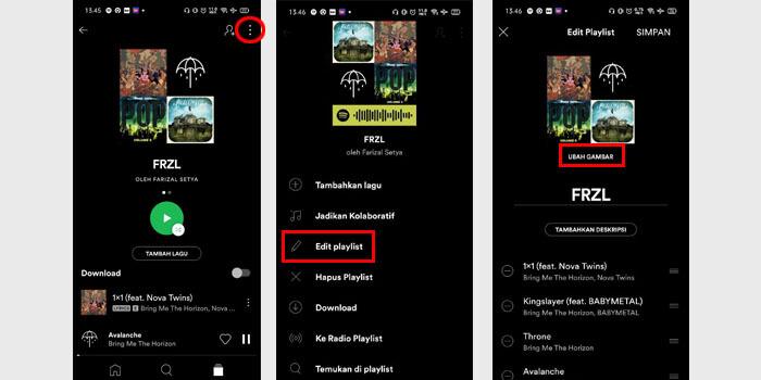 Cara Mengganti Cover Playlist Spotify di HP