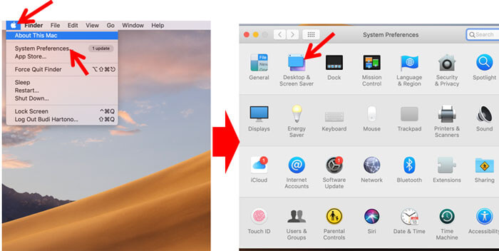 Mengubah Wallpaper Mac OS